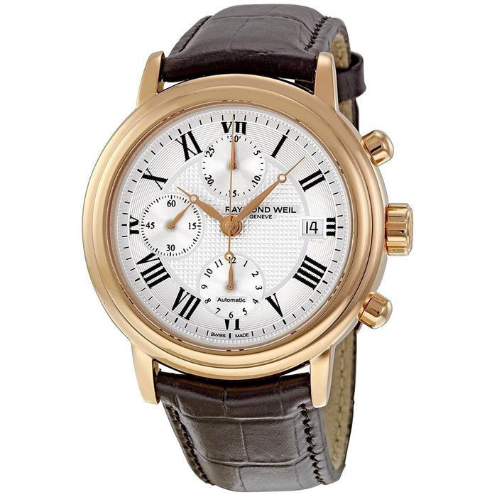 Raymond Weil Maestro Automatic Chronograph Automatic Brown Leather Watch 7737-PC5-00659