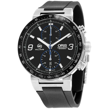 Oris Williams F1 Team Automatic Chronograph Black Silicone Watch 77376854184RSBLK