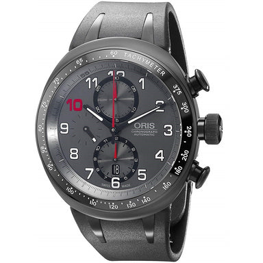 Oris TT3 Automatic Chronograph Black Silicone Watch 77476117784RS