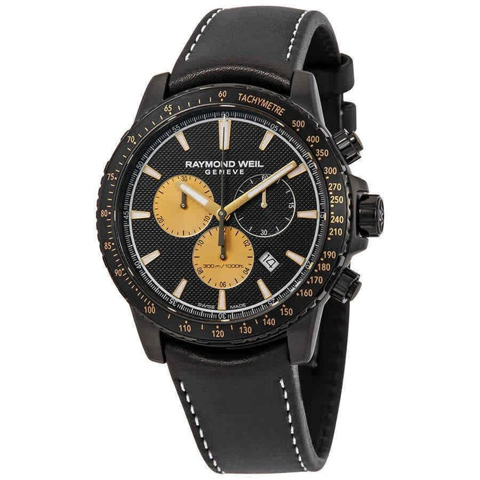 Raymond Weil Tango Quartz Chronograph Black Leather Watch 8570-BKC-MARS1