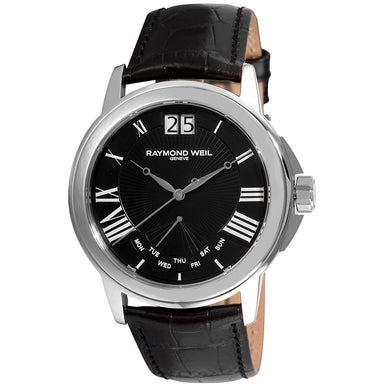 Raymond Weil Tradition Quartz Black Leather Watch 9576-STC-00200