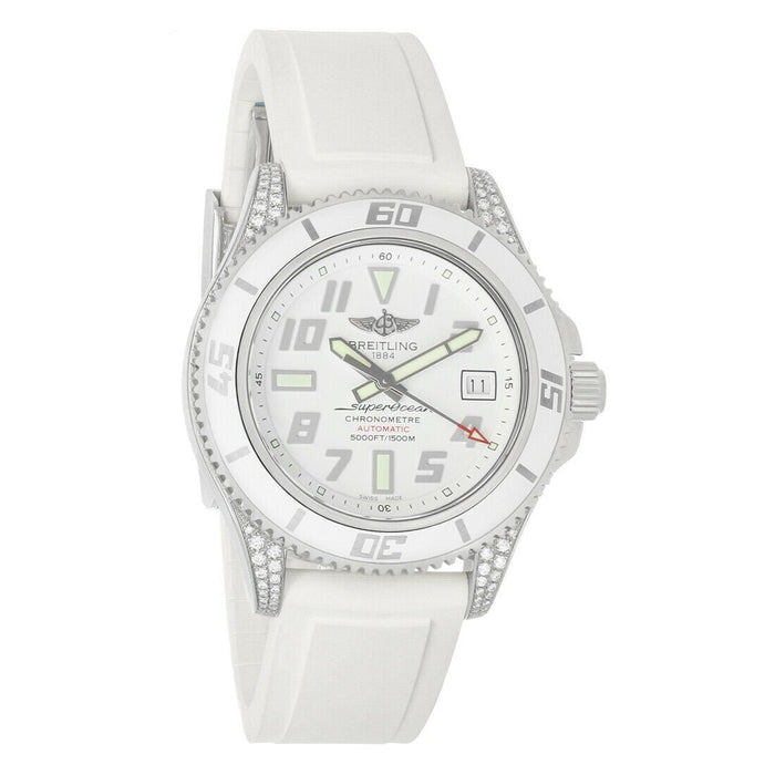 Breitling Superocean Automatic White Rubber Watch A17364AR-A763-147S
