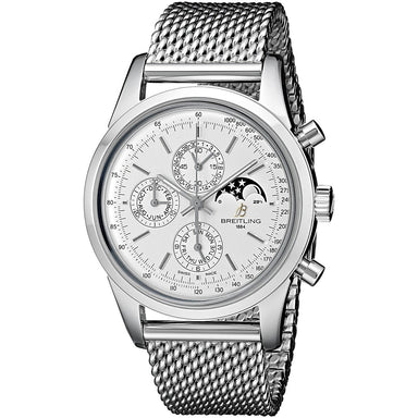 Breitling TransOcean Automatic Automatic Chronograph Moonphase Stainless Steel Watch A1931012-G750