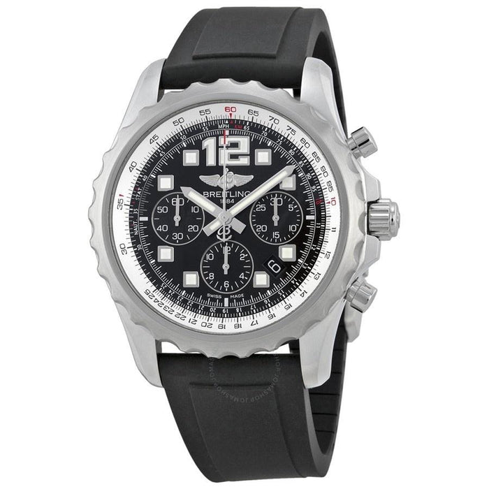 Breitling Chronospace Automatic Chronograph Black Rubber Watch A2336035-BA68-137S
