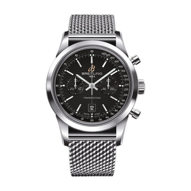 Breitling Transocean Automatic Chronograph Stainless Steel Watch A4131012-BC06-171A