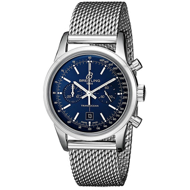 Breitling Transocean 38 Automatic Automatic Chronograph Stainless Steel Watch A4131012-C862