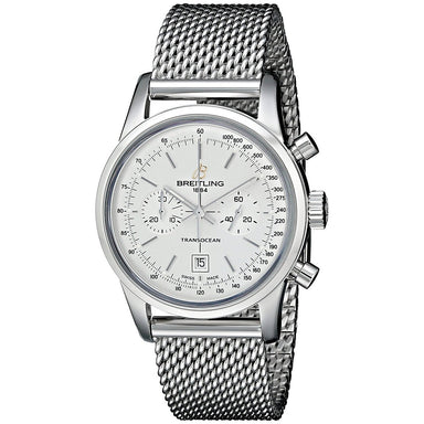 Breitling Transocean 38 Automatic Automatic Chronograph Stainless Steel Watch A4131012-G757SS