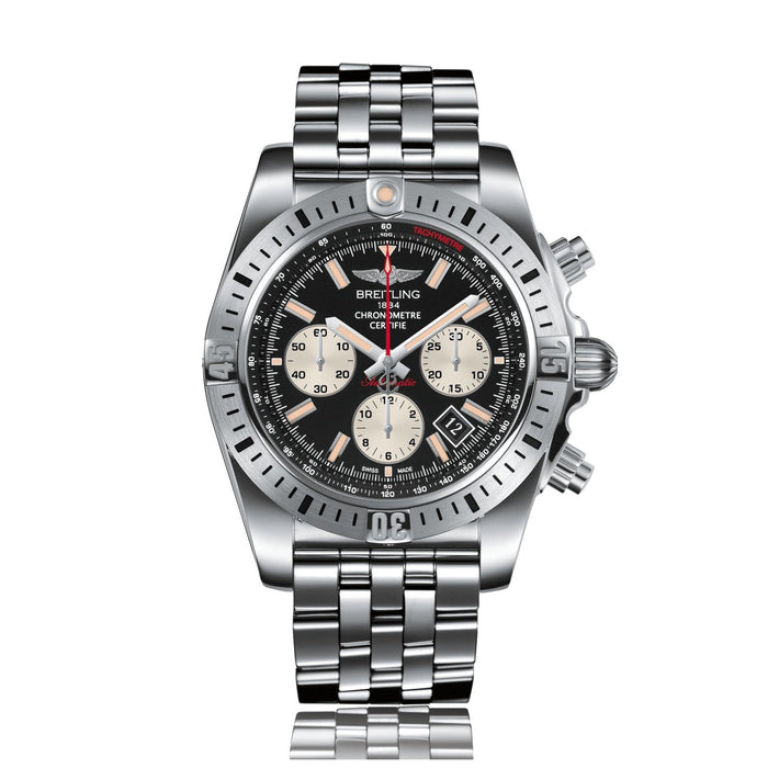 Breitling Chronomat 44 Automatic Chronograph Stainless Steel Watch AB01154G-BD13-375A