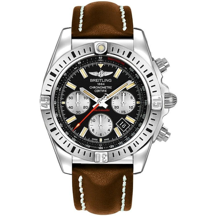 Breitling Chronomat 44 Airborne Automatic Chronograph Brown Leather Watch AB01154G-BD13-437X