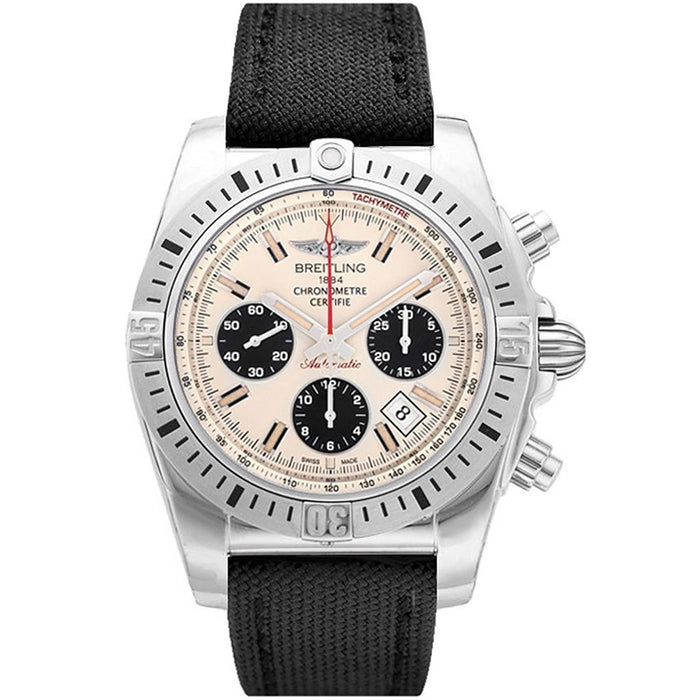 Breitling Chronomat 44 Airborn Automatic Chronograph Automatic Black Canvas Watch AB01154G-G786MS