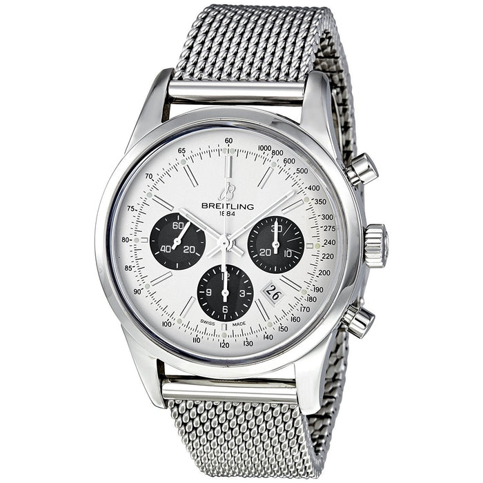 Breitling Transocean Automatic Chronograph Automatic Stainless Steel Watch AB015212-G724