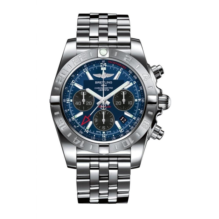 Breitling Chronomat 44 GMT Automatic Chronograph Automatic Stainless Steel Watch AB042011-C852
