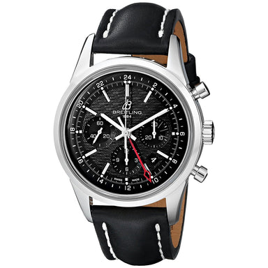 Breitling Transocean Automatic Automatic Chronograph Black Leather Watch AB045112-BC67LS