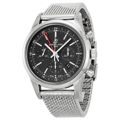 Breitling Transocean Automatic Automatic Chronograph Stainless Steel Watch AB045112-BC67