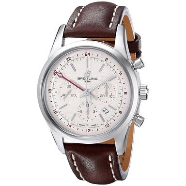 Breitling Transocean Automatic Automatic Chronograph Brown Leather Watch AB045112-G772LS