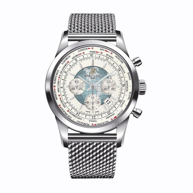 Breitling Transocean Automatic Chronograph Stainless Steel Watch AB0510U0-A732-152A