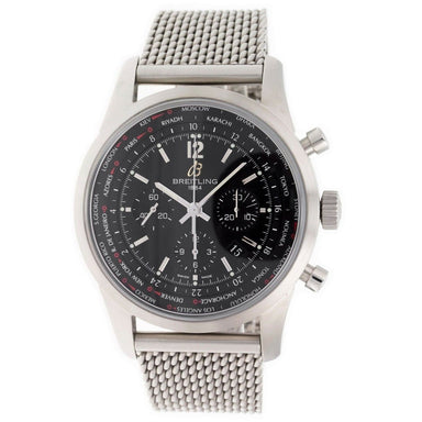 Breitling Transocean Automatic Chronograph Stainless Steel Watch AB0510U6-BC26-159A