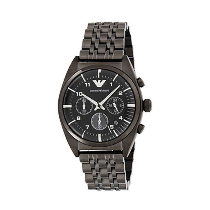 Emporio Armani Men's AR0374 Sportivo Chronograph Grey Stainless Steel Watch