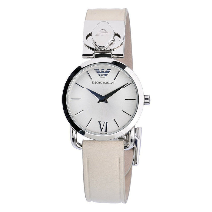 Emporio Armani Women's AR0789 Classic Beige Leather Watch