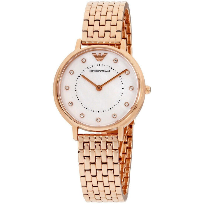 Emporio Armani Women's AR11006 Kappa Rose Gold-Tone Stainless Steel Watch