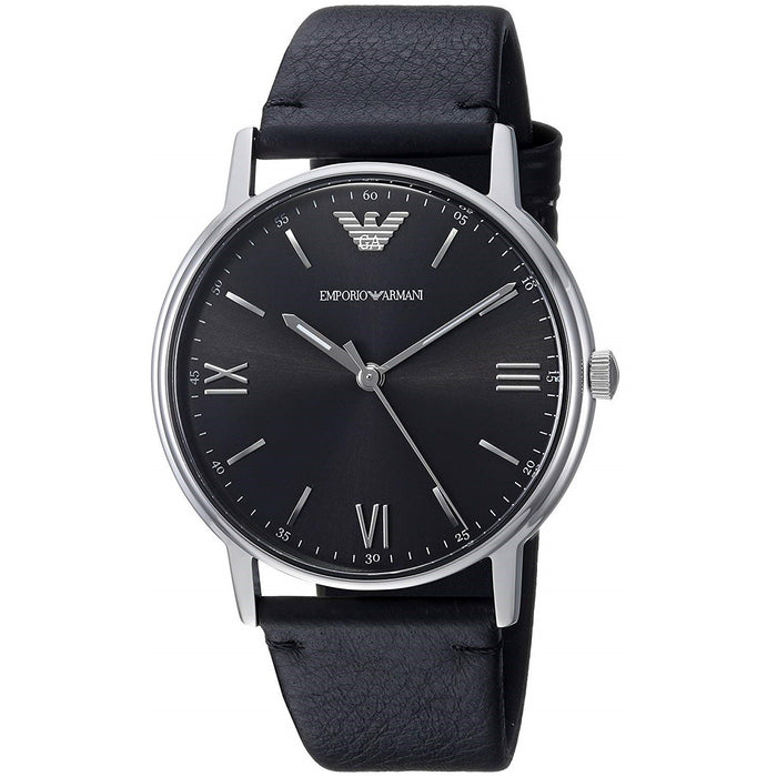 Emporio Armani Men's AR11013 Kappa Black Leather Watch