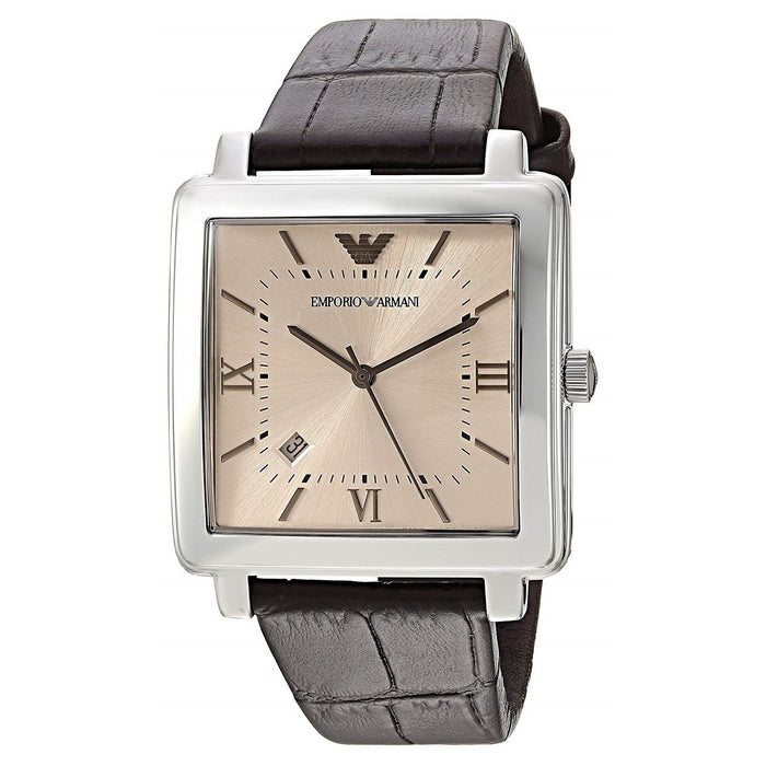 Emporio Armani Men's AR11098 Dress Brown Leather Watch