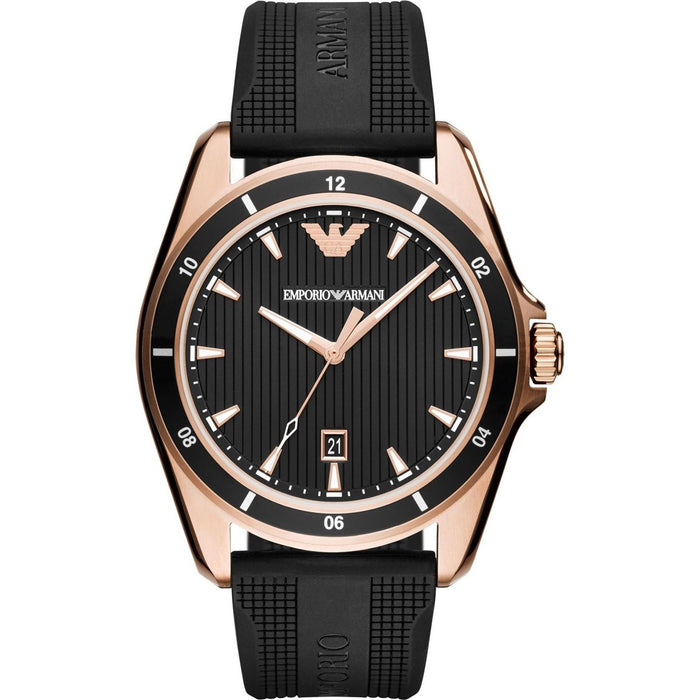 Emporio Armani Men's AR11101 Sport Black Rubber Watch