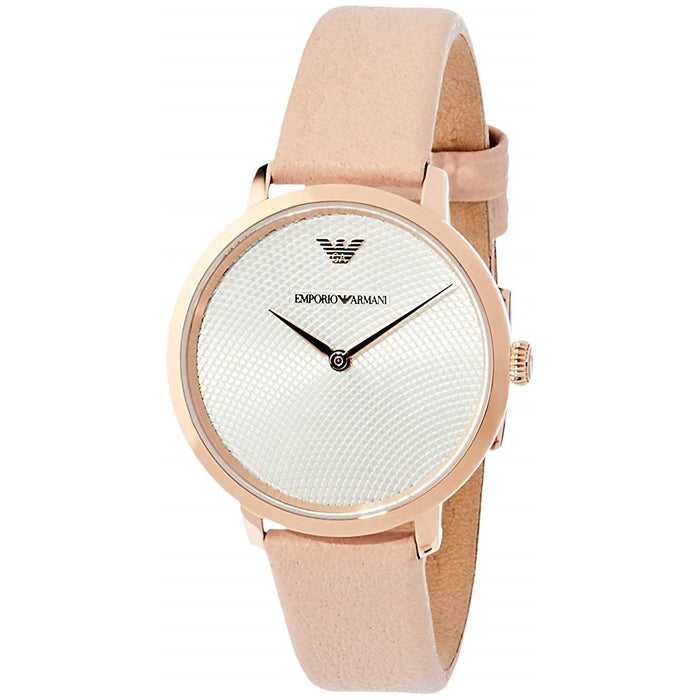 Emporio Armani Women's AR11160 Modern Slim Beige Leather Watch