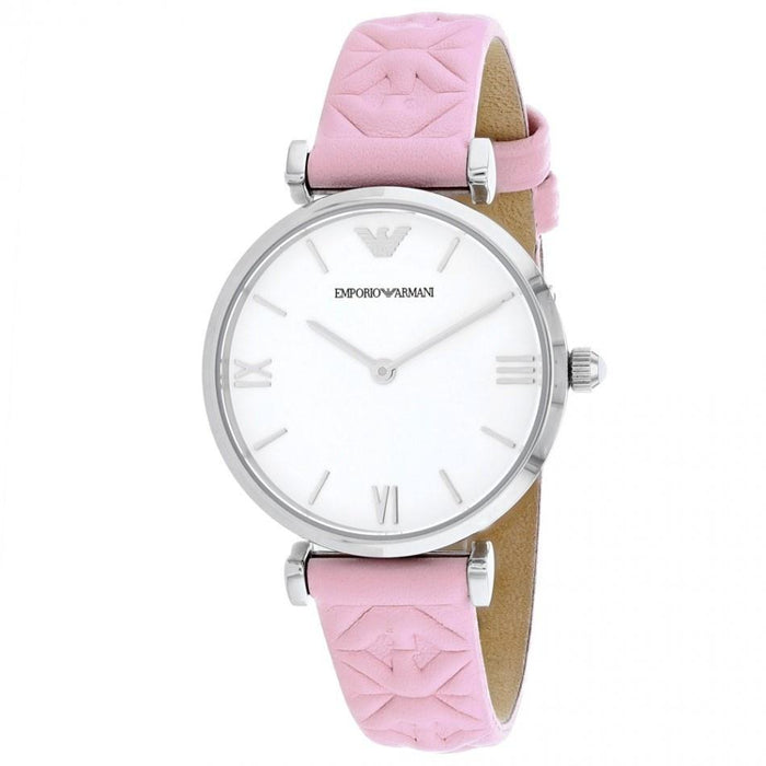 Emporio Armani Women's AR11205 Gianni Pink Leather Watch