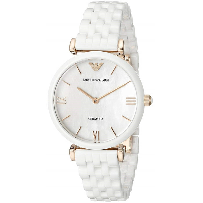 Emporio Armani Women's AR1486 Ceramica White Ceramic Watch