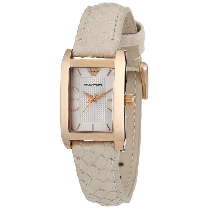 Emporio Armani Women's AR1655 Dress Sand Leather Watch