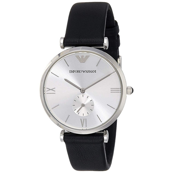 Emporio Armani Men's AR1674 Retro Black Leather Watch
