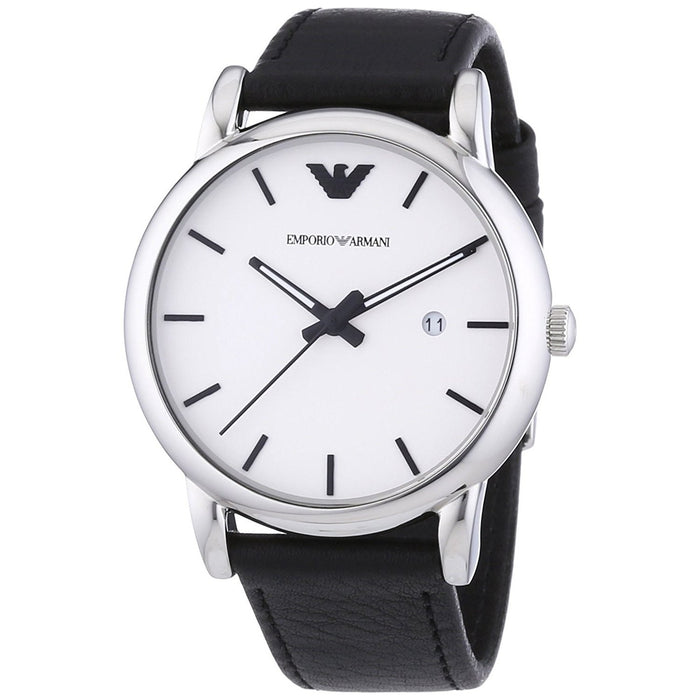 Emporio Armani Men's AR1694 Classic Black Leather Watch