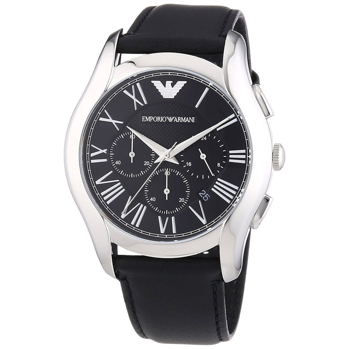 Emporio Armani Men's AR1700 Classic Chronograph Black Leather Watch