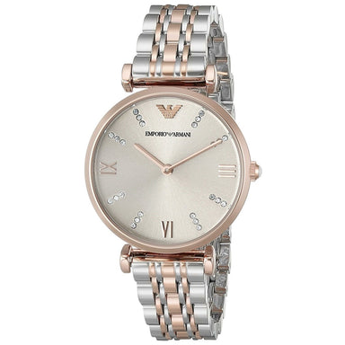 Emporio Armani Women's AR1840 Classic Crystal Two-Tone Stainless Steel Watch