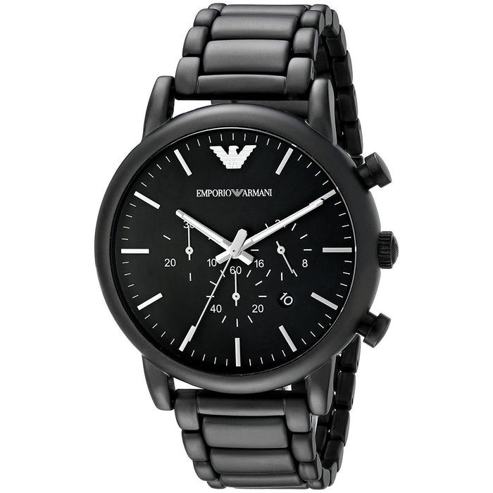 Emporio Armani Men's AR1895 Classic Chronograph Black Stainless Steel Watch