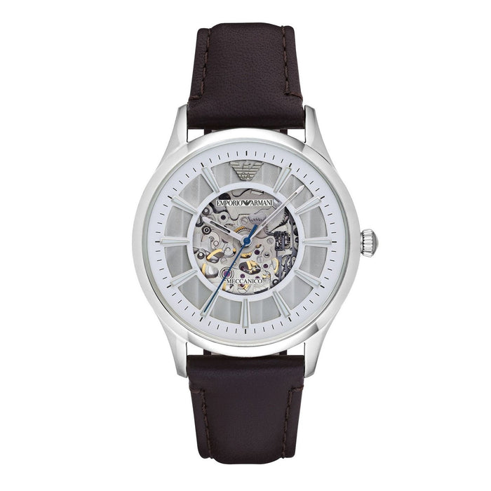 Emporio Armani Men's AR1946 Dress Automatic Brown Leather Watch