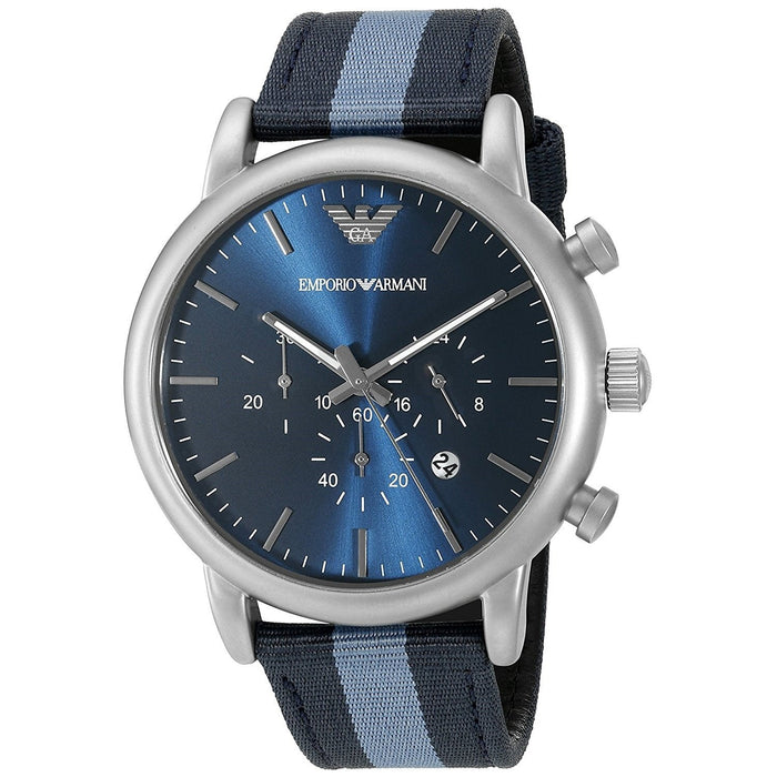 Emporio Armani Men's AR1949 Dress Chronograph Blue Nylon Watch