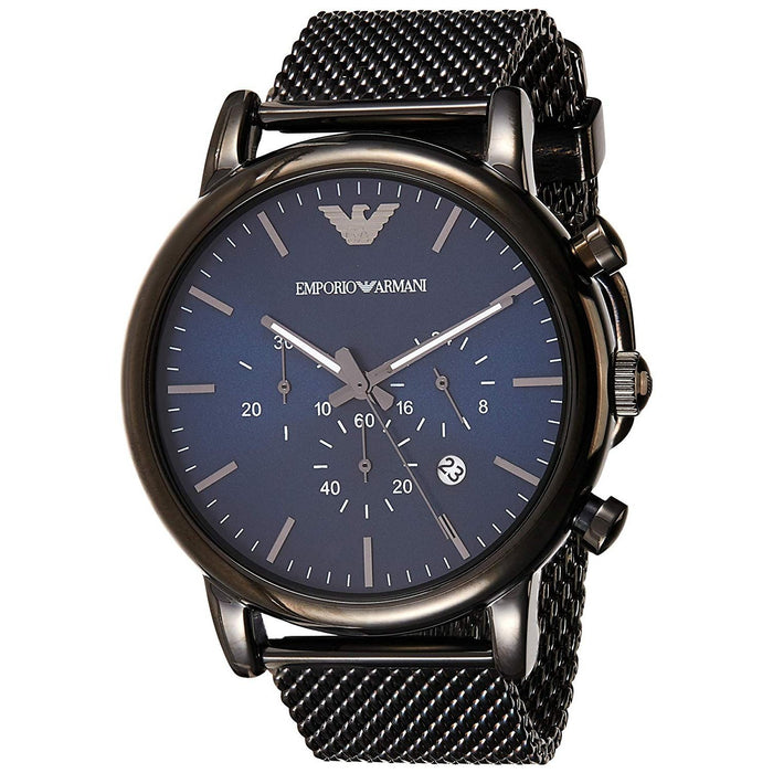 Emporio Armani Men's AR1979 Dress Chronograph Black Stainless Steel Watch