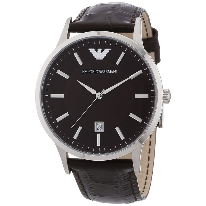 Emporio Armani Men's AR2413 Classic Brown Leather Watch