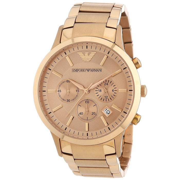 Emporio Armani Men's AR2452 Sportivo Chronograph Rose-Tone Stainless Steel Watch
