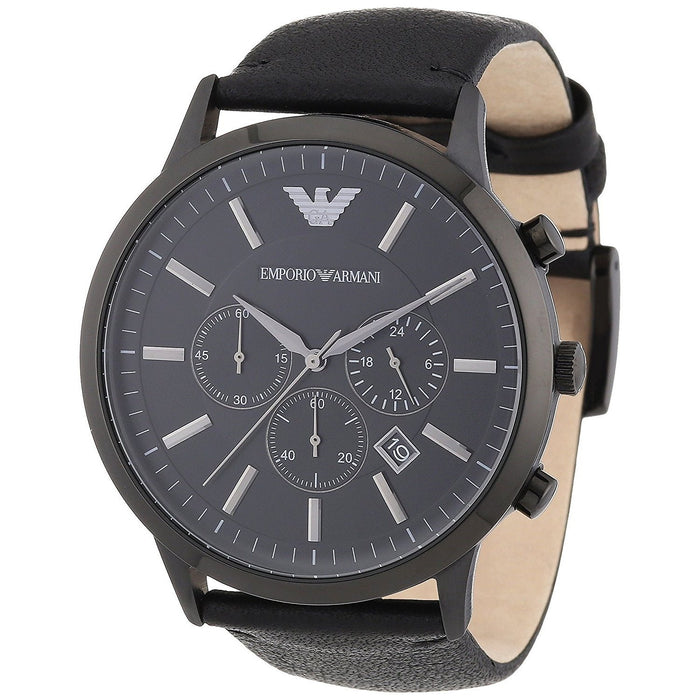 Emporio Armani Men's AR2461 Black Leather Watch