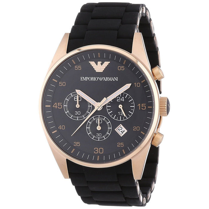Emporio Armani Men's AR5905 Chronograph Brown Silicone Watch