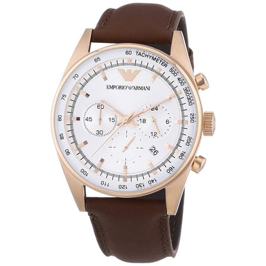 Emporio Armani Men's AR5995 Classic Chronograph Brown Leather Watch