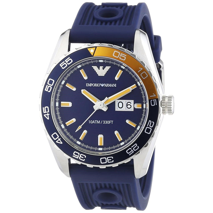 Emporio Armani Men's AR6045 Sportivo Blue Silicone Watch