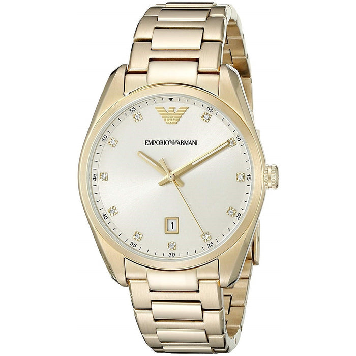 Emporio Armani Women's AR6064 Classic Crystal Gold-Tone Stainless Steel Watch