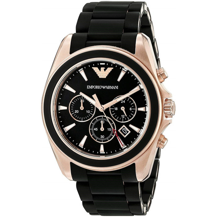 Emporio Armani Men's AR6066 Sportivo Chronograph Black Stainless Steel Watch