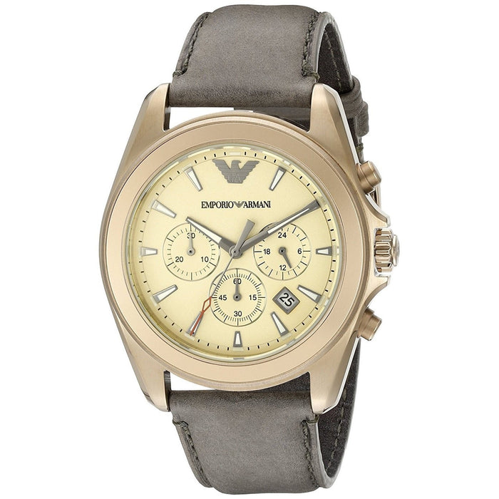 Emporio Armani Men's AR6071 Sportivo Chronograph Brown Leather Watch