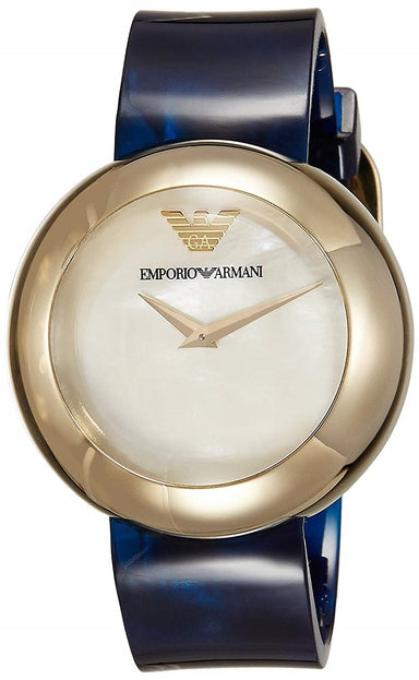 Emporio Armani Women's AR7384 Blue Stainless Steel Watch