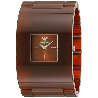 Emporio Armani Women's AR7397 Donna Catwalk Brown Plastic Watch